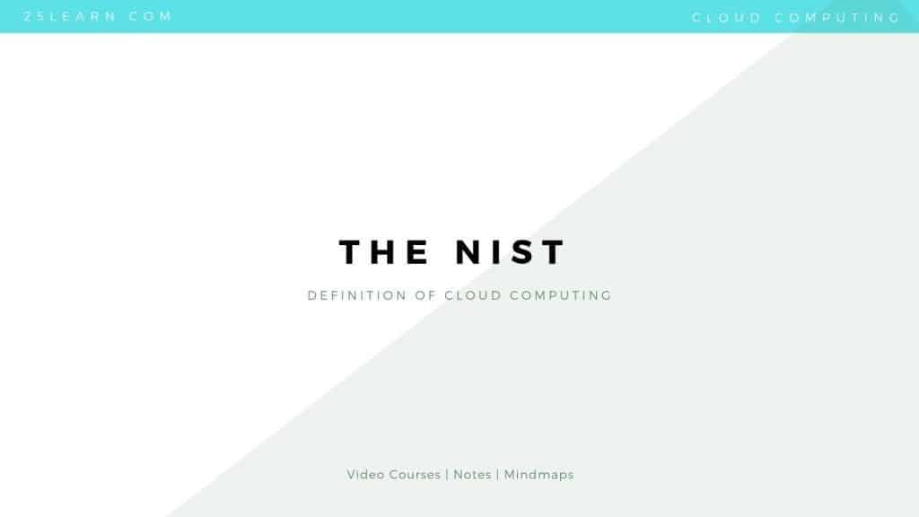 The NIST