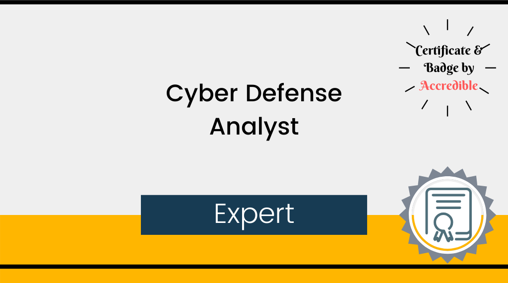 Expert - Cyber Defense Analyst