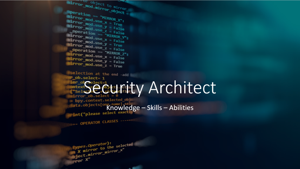 Read more about the article Road Map to Security Architect