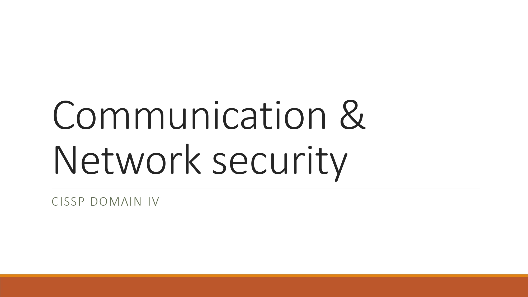 Read more about the article Refreshed Topic Notes of Domain 04 – CISSP